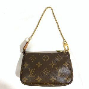 Louis Vuitton Mini Pouchette Monogram Canvas BagPM